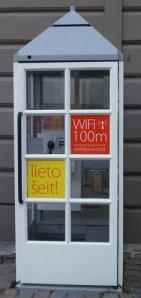 Public convenience in Riga, Latvia