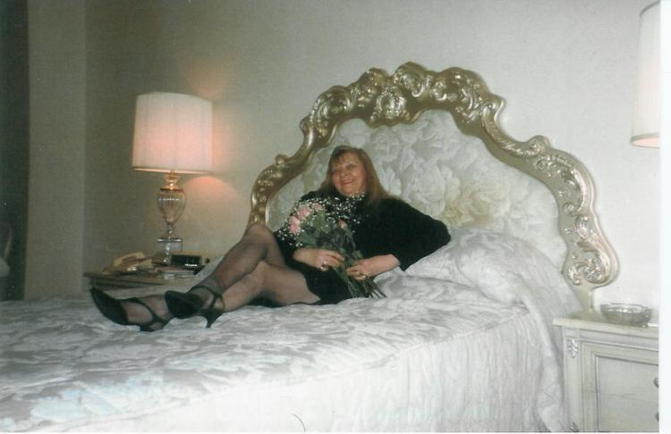 Mom at the Helmsley at 62. She had three daughters - you think one of us would have inhreited those legs???