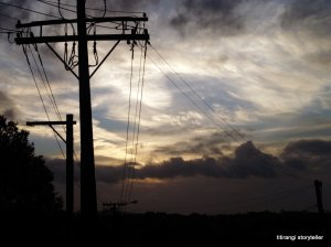 Photo of the week. I swear both the sky and those power lines were posing as the bus zipped past